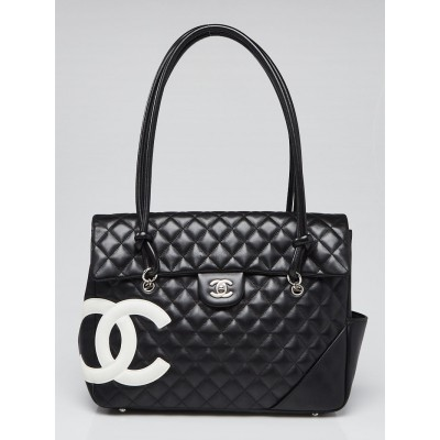 Chanel Black Quilted Cambon Ligne Large Flap Tote Bag