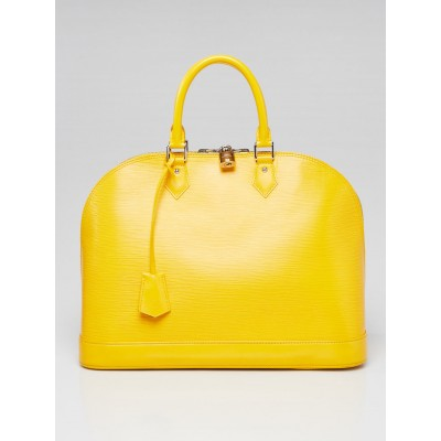 Louis Vuitton Citron Epi Leather Alma GM Bag