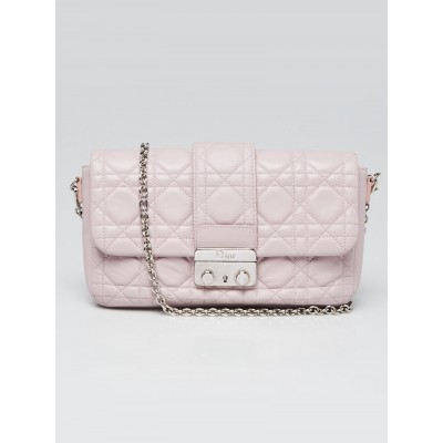 Christian Dior Light Pink Cannage Quilted Leather Miss Dior Promenade Crossbody Clutch Bag