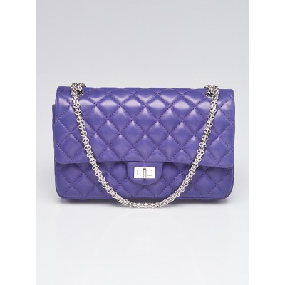 Chanel Dark Purple Reissue 2.55 Quilted Classic Lambskin Leather 226 Flap Bag