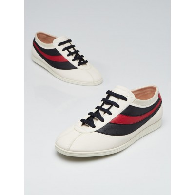 Gucci Off White Leather Falacer Low Top Sneakers Men's Size 6