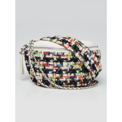 Chanel Multicolor Tweed and Leather Convertible Waist Belt Bag