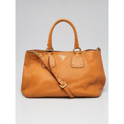 Prada Brown Vitello Daino Leather Tote Bag BN2047