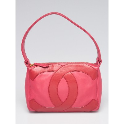 Chanel Pink/Red Leather CC Small Shoulder Bag
