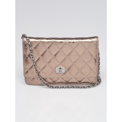 Chanel Bronze Quilted Leather 2.55 Reissue WOC Clutch Bag