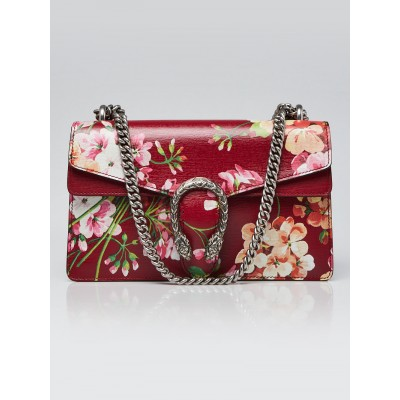 Gucci Red Leather Blooms Small Dionysus Shoulder Bag