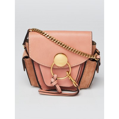 Chloe Pink Leather Jodie Crossbody Bag