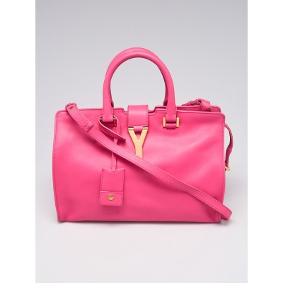 Yves Saint Laurent Pink Calfskin Leather Small Cabas ChYc Bag