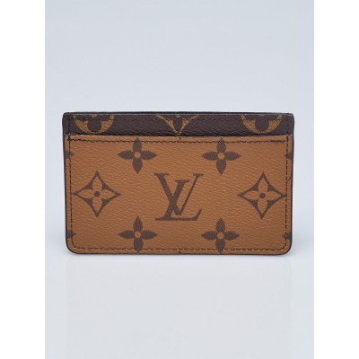 Louis Vuitton Monogram Canvas Reverse Canvas Card Holder