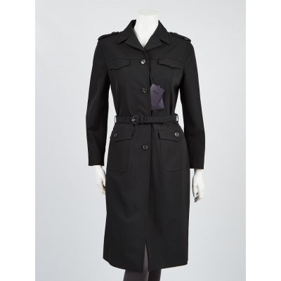 Prada Polyester Belted Trench Coat Size 12/46