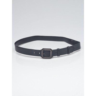 Cartier Black Smooth/Textured Leather Reversible Belt