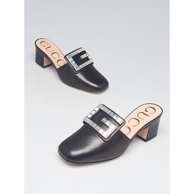 Gucci Black Leather Madelyn Mules Size 3.5/34