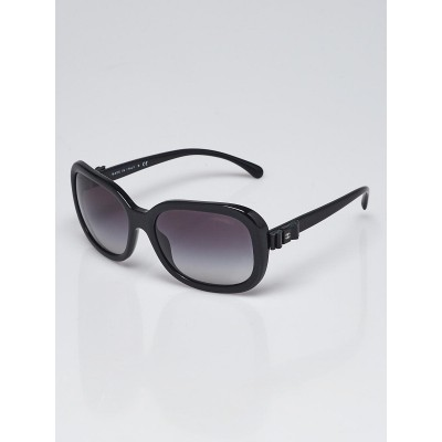 Chanel Black Frame Gradient Tint Bow Sunglasses-5280