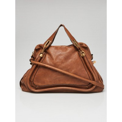 Chloe Brown Leather Large Paraty Bag