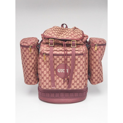 Gucci Red GG Canvas/Leather Alpina Backpack Bag