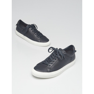 Givenchy Black Leather Lace Up Urban Knots Sneakers  Size 10/40.5
