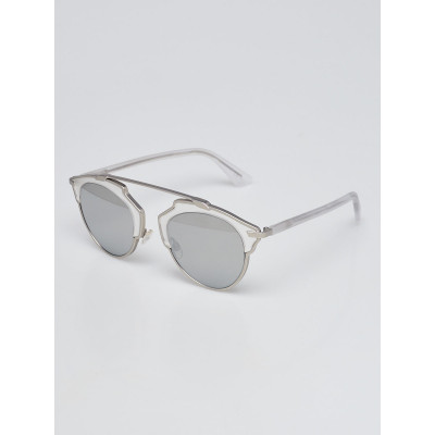 Christian Dior Clear Acetate and Metal So Real Brow Bar Sunglasses