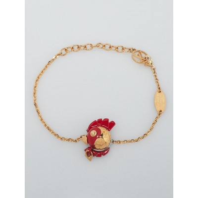 Louis Vuitton Gold/Red Year of the Rooster Bracelet