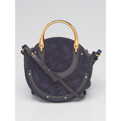 Chloe Blue Suede/Leather Small Pixie Bag