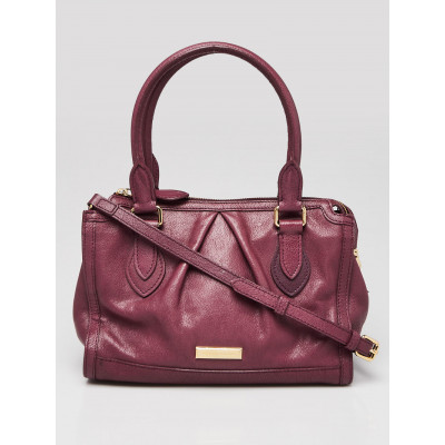 Burberry Purple Grained Leather Small Shoulder Bag