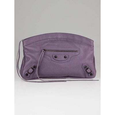 Balenciaga Glycine Lambskin Leather Premier Clutch Bag