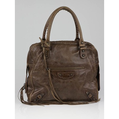 Balenciaga Truffe Chevre Leather Mini Bowling Bag