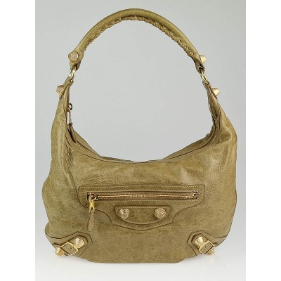Balenciaga Oatmeal Chevre Leather Giant 21 Hobo Bag