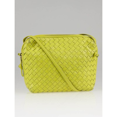 Bottega Veneta Yellow Woven Leather Small Crossbody Bag