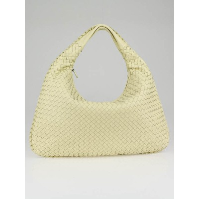 Bottega Veneta Hay Woven Leather Medium Veneta Hobo Bag