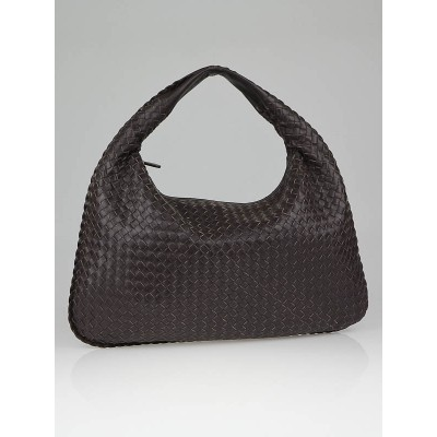 Bottega Veneta Ebano Woven Leather Large Veneta Hobo Bag