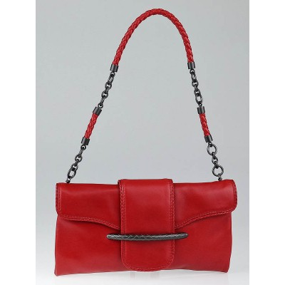 Bottega Veneta Red Leather Small Shoulder Bag