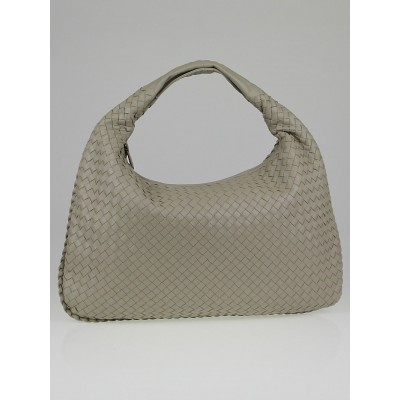 Bottega Veneta Fume Intrecciato Woven Nappa Leather Large Veneta Hobo Bag