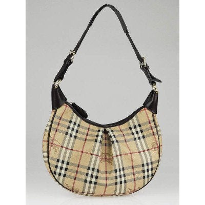 Burberry Haymarket Check Canvas Rydal Hobo Bag
