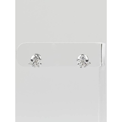 Cartier 18k White Gold and Diamond Blossom Stud Earrings