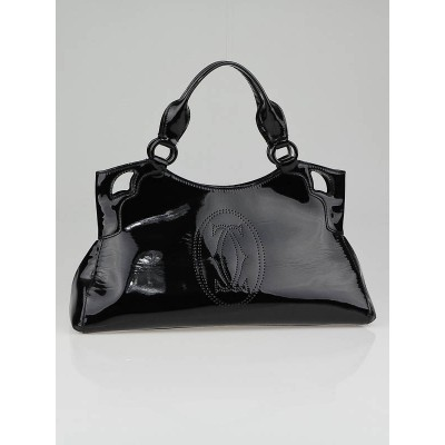 Cartier Black Patent Leather Small Marcello de Cartier Bag