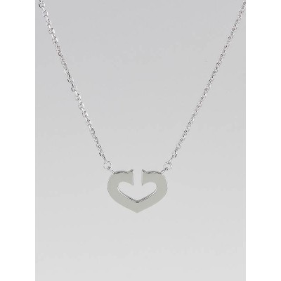 Cartier White Gold Heart of Cartier Pendant Necklace