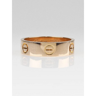 Cartier 18k Rose Gold LOVE Ring Size 8.5