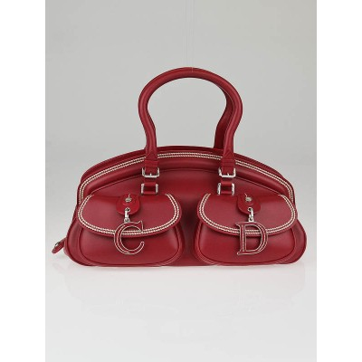 Christian Dior Red Leather Medium Detective Bag