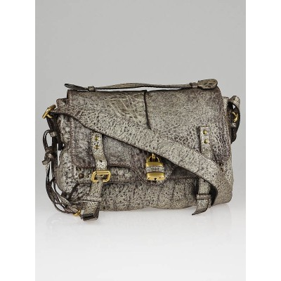 Chloe Bronze Metallic Leather Paddington Flap Mini-Messenger Bag