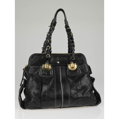 Chloe Black Leather Heloise Satchel Bag