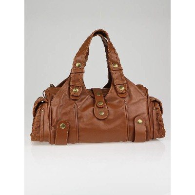 Chloe Chocolate Buffalo Leather Silverado Bag