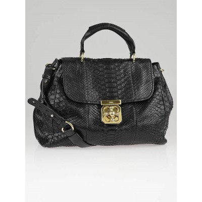 Chloe Black Python Elsie Satchel Bag