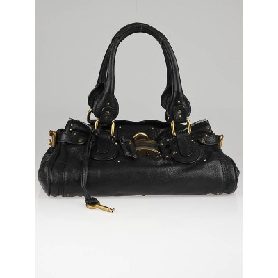 Chloe Black Leather Paddington Medium Satchel Bag