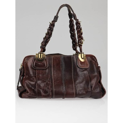 Chloe Havane Leather Heloise Satchel Bag
