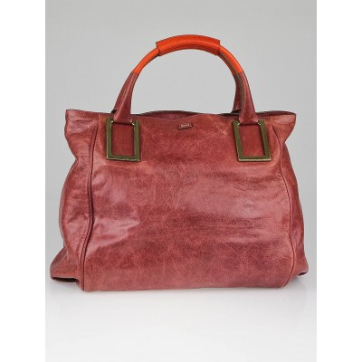 Chloe Berry Leather Large Ethel Tote Bag