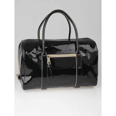 Chloe Forest Green Patent Leather Madeline Duffel Bag