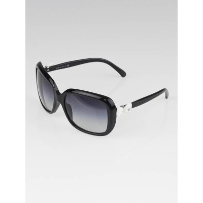 Chanel Black Frame Gradient Tint Bow Sunglasses-5171