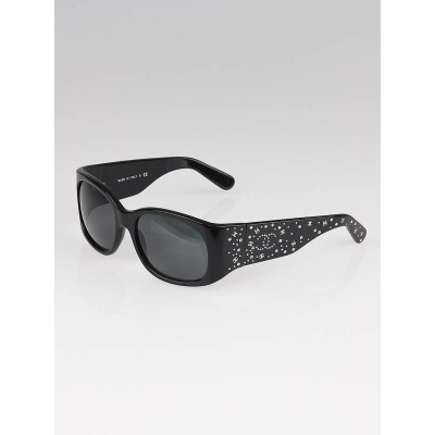 Chanel Black Frame Crystal CC Logo Sunglasses-5134