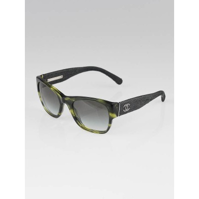 Chanel Green Frame and Denim Wayfarer CC Sunglasses-1174