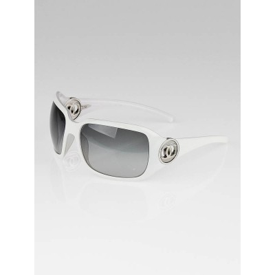 Chanel White Metal CC Logo Sunglasses -6023